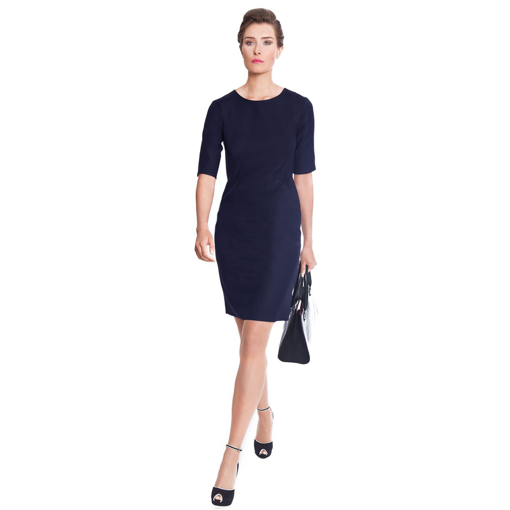 business navy blue dress