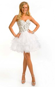 cheap short white formal dresses