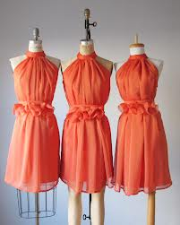 choosing coral bridesmaid dresses