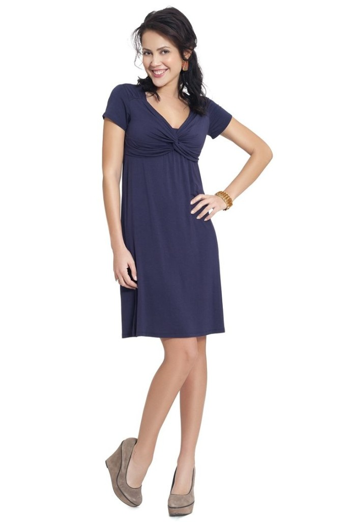contemporary navy blue dress
