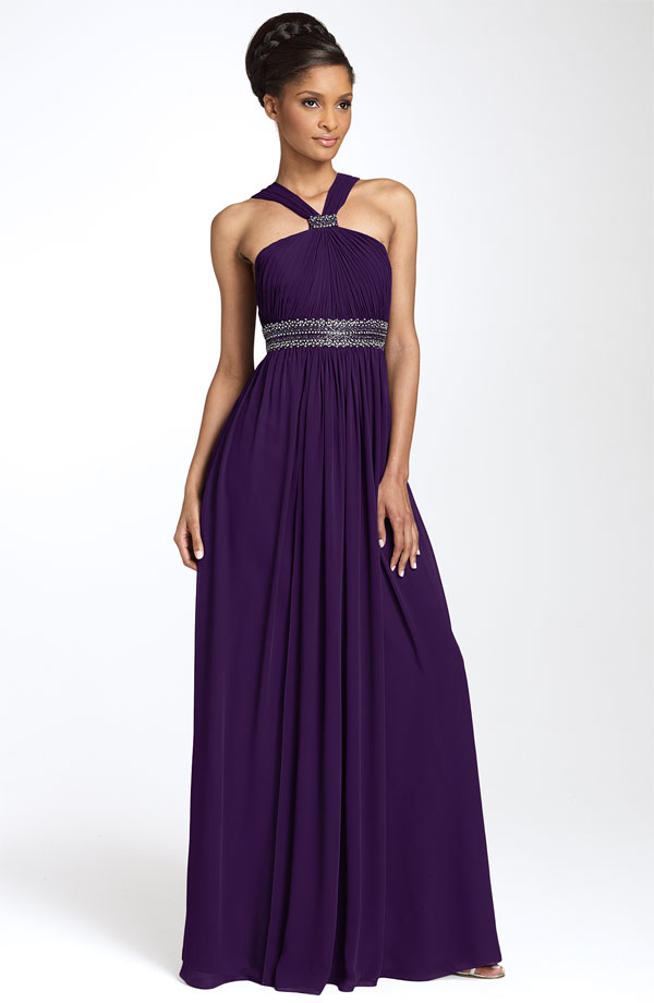 Deep Purple Dress What Color Shoes