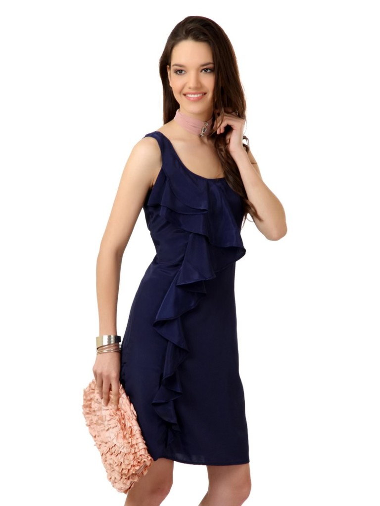 special trademark navy blue dress