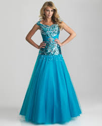 turquoise modest prom dresses
