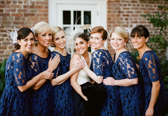 All About Navy Blue Lace Dress