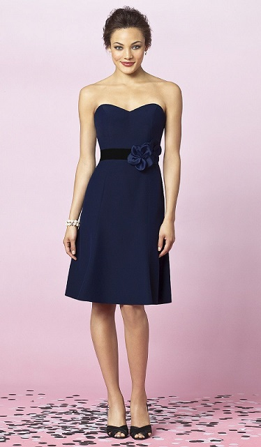 Buy A Cute Short Navy Blue Bridesmaid Dresses