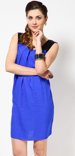 Casual Cobalt Blue Dress