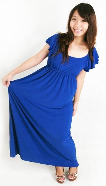 Chic Style Cobalt Blue Maxi Dress