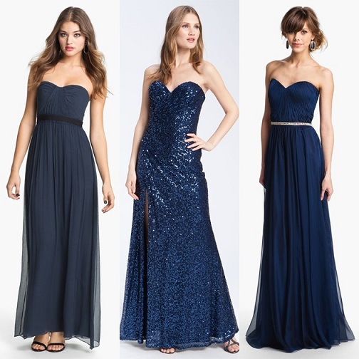 Cute and Classy Navy Blue Prom Dresses