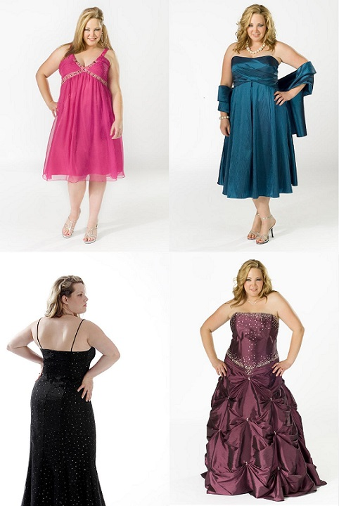 Different Style for Plus Size Evening Gowns
