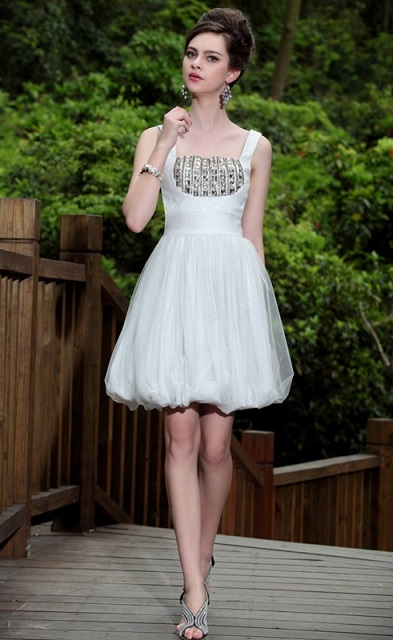 Formal White Cocktail Dresses For Women