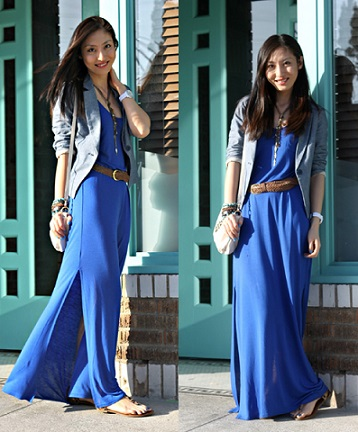 Glamarous Royal Blue Maxi Dress