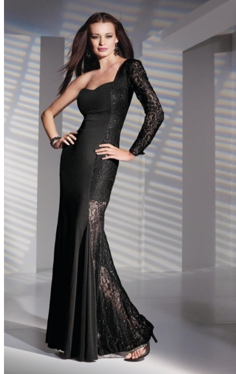 Gothic Black Formal Evening Gowns