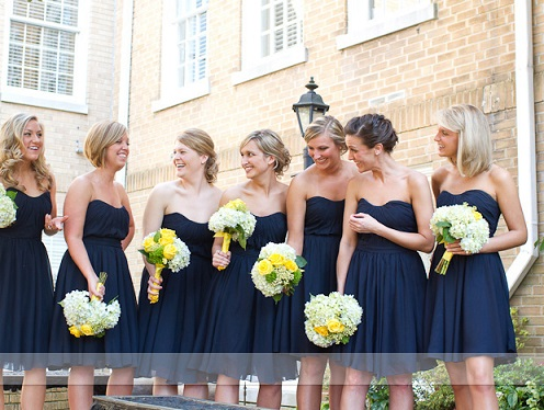 Lovely Navy Blue Bridesmaid Dresses