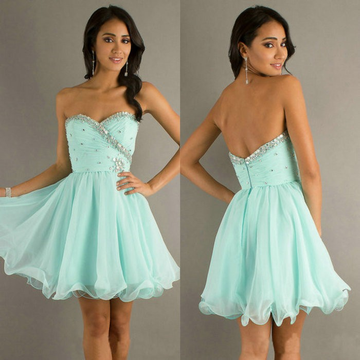 Petite Light Blue Chiffon Dress