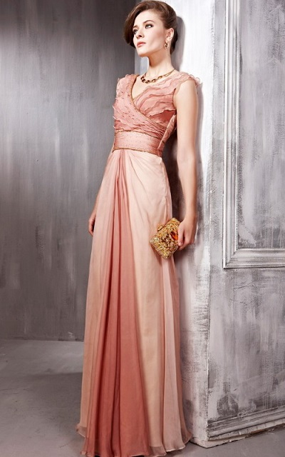 Pink Long Evening Dresses For Women