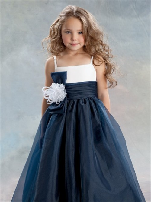 Pretty Princess Navy Blue Flower Girl Dresses