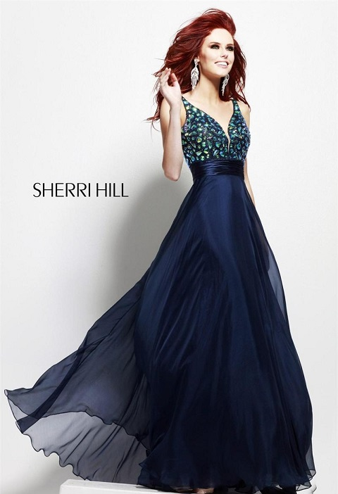 Seductive Navy Blue Prom Dress