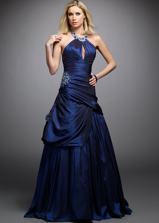 Sexy Cheap Navy Blue Prom Dresses