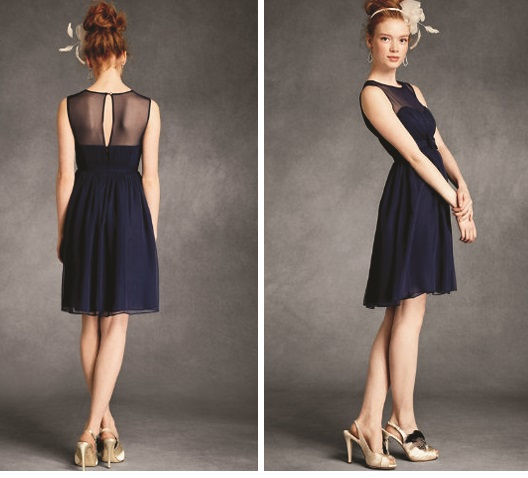 Sexy Navy Blue Lace Bridesmaid Dresses