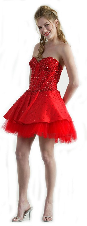 Sexy and Cute Short Red Prom Dresses