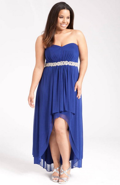 Tips On Selecting Ideal Plus Size Gowns  Navy Blue Dress
