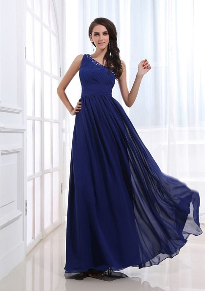 Shop for Royal Blue Chiffon Dress