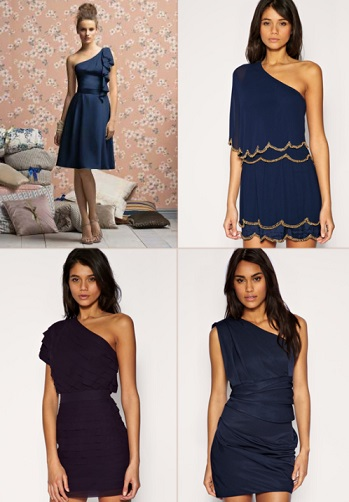 Short Navy Blue Dresses