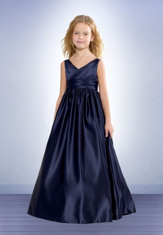 Simple Navy Blue Junior Bridesmaid Dresses
