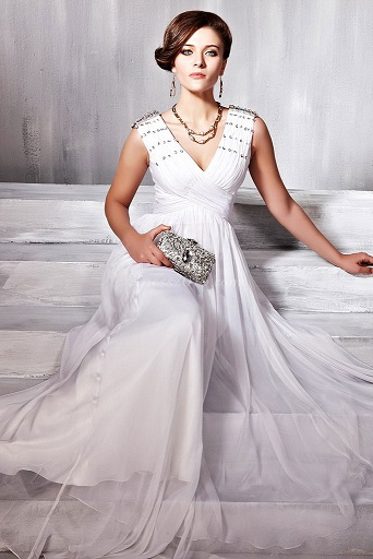 Stunning White Formal Evening Gowns