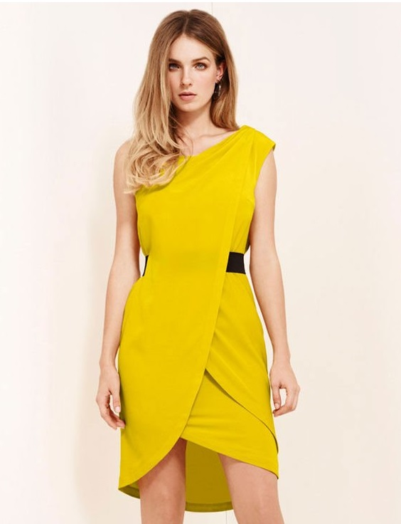 Yellow Womens Formal Wear Dresses