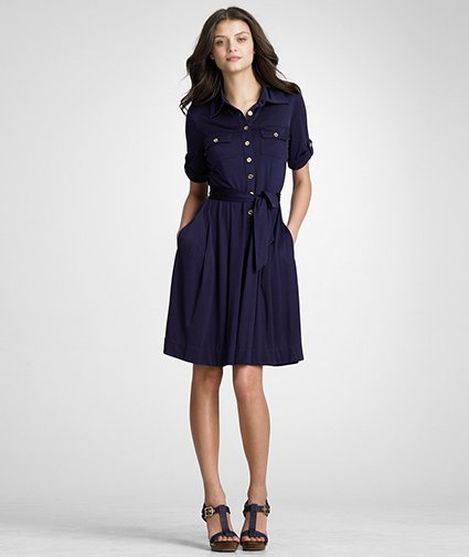 Simple navy blue dress