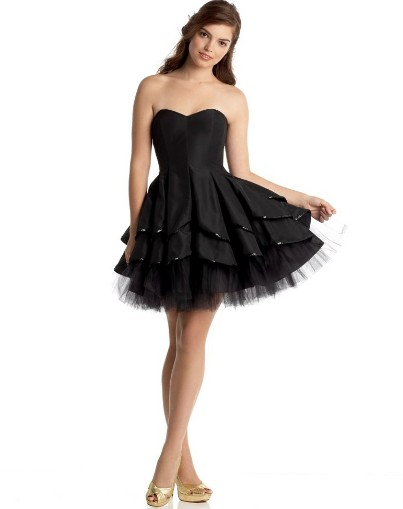 cute short black cocktail dresses