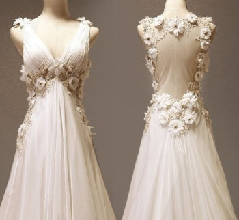 aphrodite like vintage wedding dresses