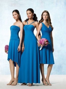 cheap blue bridesmaids dresses