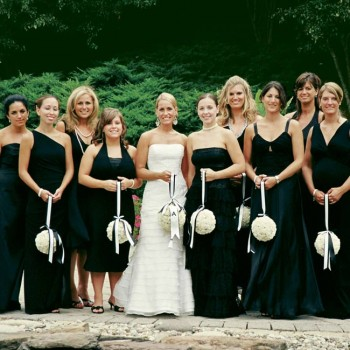 cute black bridesmaid dresses
