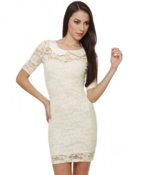 elegant cute Ivory dress