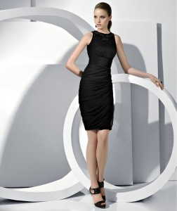 sheath column tank little black dress