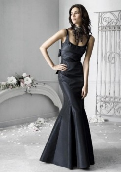 stylish and dramatic black bridesmaid dresses