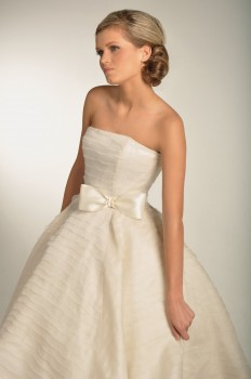 very pretty ivory wedding dress