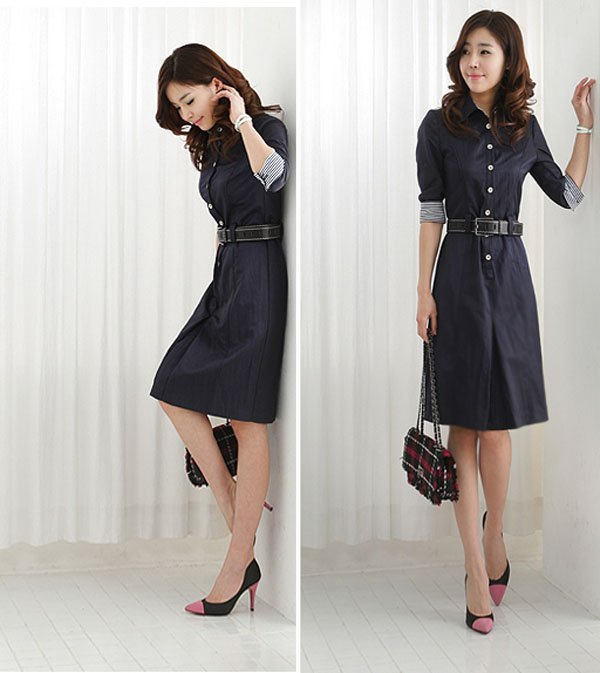All About Womens Dresses Navy Blue Dress